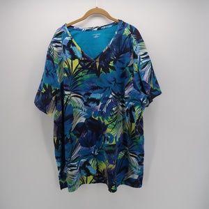 Catherines Hawaiian Short Sleeve Tee T-Shirt Plus